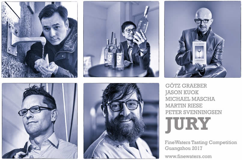 Jury Water Tasting Competition Guangzhou 2017