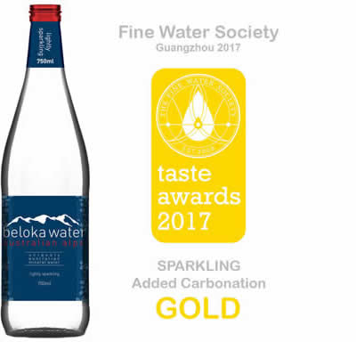beloka water taste award gold 2017