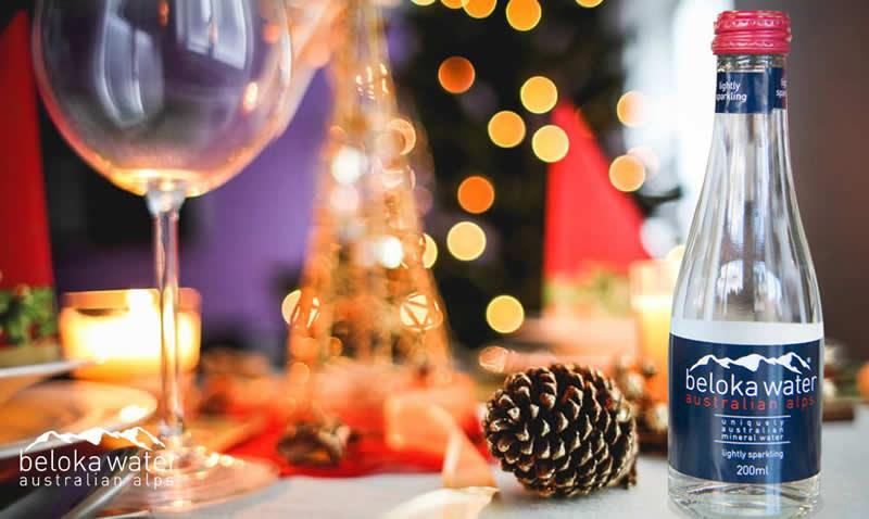 dinner party december beloka water bottle