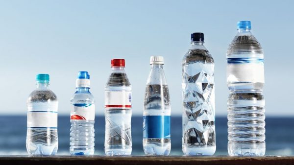 Plastic Water Bottles Stock